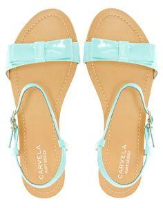 Carvela Kute Bow Flat Sandals