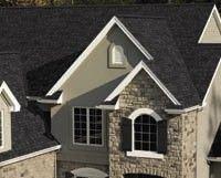 Best Dark Roof Tan Siding Certainteed Landmark Charcoal Black 640 x 480