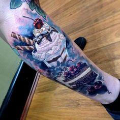 Tattoo ice cream and cake - http://tattootodesign.com/tattoo-ice-cream-and-cake/   #Tattoo, #Tattooed, #Tattoos