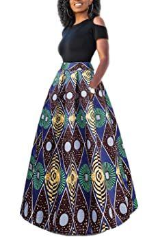 Panier African Fashion Skirts, African Fashion Designers, African Inspired Fashion, African Print Dresses, African Print Fashion, African Dress, Skirt Fashion, Printed Maxi Skirts, Long Maxi Skirts