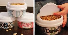 Personalized Snack Containers 20 options – Perfect Stocking Stuffer!!