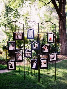 Cute idea for maybe cocktail hour with pictures of out parents and grandparents on their wedding day also?