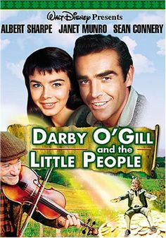A very young Sean Connery appears in this Walt Disney movie, Darcy McGee, perfect for St. Patrick's Day viewing. #stpatricksday #leprechauns #seanconnery
