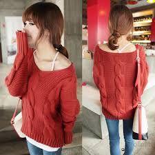 Resultado de imagen para sweaters de lana rojo