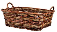 """""""LIVING BASKET"""" - RECTANGLE ROPE/WILLOW BASKET - CHOOSE FROM 2 COLORS"""
