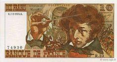 C'est du portrait peint par Emile Signol en 1832 que Lucien Fontanarosa  (1912-1975) s'inspira en 1969, lorsque la banque de France lui passa commande d'une aquarelle pour figurer sur  son dernier billet de dix francs à l'effigie d'Hector Berlioz. Lucien Fontanarosa avait déjà été sollicité en 1964 pour le 500 f (Pascal), en 1965 pour le 100F (Delacroix) et en 1967 pour le 50 F (Quentin de la Tour).