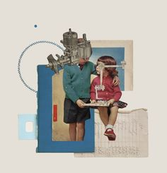 A nice mix of collage and embroidery by artist Rhed Fawell, currently based in Edinburgh, Scotland. Collages, Collage Artwork, Alien Art, Collage Illustration, Collage Design, Surreal Art, Community Art, Digital Collage, Art Inspo