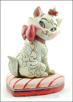Disney Jim Shore Marie Purr-Fection Valentine Figurine 4026082 NEW