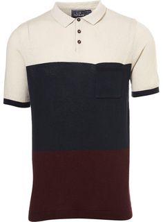 Topman Colour Block Knitted T-shirt
