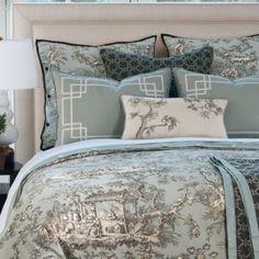 A Joyful Cottage: Girl Meets toile de Jouy- 16 Master Bedrooms ... : toile quilts - Adamdwight.com