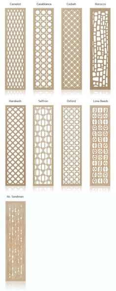 Retro Mid-Century Inspired Decorative Wall Screens & Room Dividers