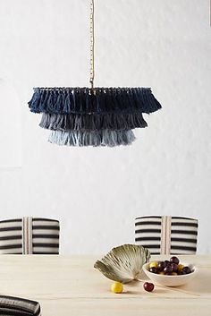 Fela Tasseled Chandelier by Justina Blakeney in Beige, Lighting at Anthropologie- Isle Of Man, Bungalows, Diy Tassel, Tassels, Chandeliers, Justina Blakeney, Bohemian Interior, Clothes For Sale, Decoration