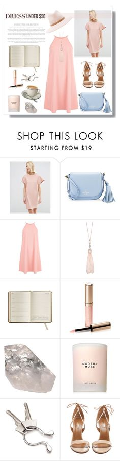 """#DressUnder50"" by hellodollface ❤ liked on Polyvore featuring ASOS, Kate Spade, New Look, Oasis, GiGi New York, By Terry, Estée Lauder, Georg Jensen, Aquazzura and rag & bone"