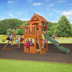 Backyard Discovery Atlantis All Cedar Swingset