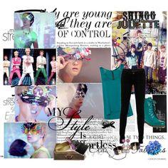 Shinee Juliette Japanese by ponyshock on Polyvore featuring polyvore fashion style Jane Norman SuperTrash Miu Miu Jon Richard GESTALTEN Chanel Louis Vuitton