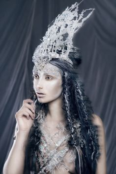 Photographer: Sasha L - Photography by Sasha Concept/Crown/Necklace/Hair/Makeup: Emilia Kuczma-Porębska - Emilia Art Make Up Model: Daniella Duska