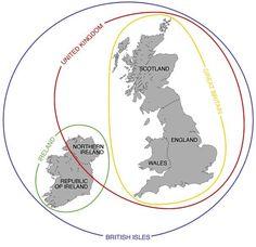 England vs Great Britain vs United Kingdom Explained. Map created by Anna Debenham.