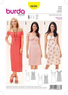 Burda 6686 Women's Dress sewing pattern