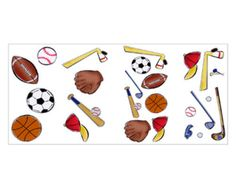 Sports Wall Stickers | Home / Sports Theme Wall Stickers Basketball Baseball Football