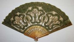 Silk and tortoise shell fan at the Metropolitan Museum, 1850-60