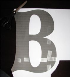 DIY Paper Mache Letter:Better than any you could buy at the store