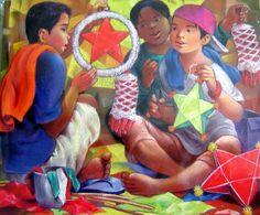 Parol Filipino, Filipino Art, Filipino Culture, Star Lanterns, Christmas Lanterns, Christmas Art, Christmas Ideas, Christmas Tree Clipart, Christmas Greetings