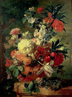 Jan van Huysum | Flowers in a Vase, 1726