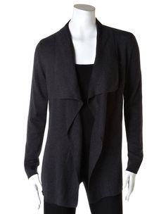 Dark Grey Open Drape Sweater