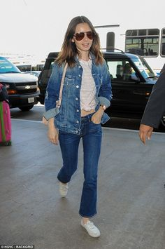 Doing promotion: Lily was later seen heading to LAX, where it's thought she was flying out for promo