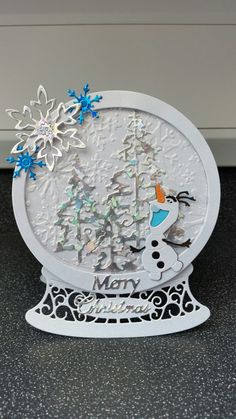 Tattered Lace Snowglobe and Disney Dies.