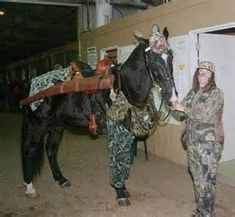 Camo/hunting horse and rider costume
