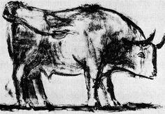 Bull (plate I), 1945, Pablo Picasso  Medium: lithography on paper