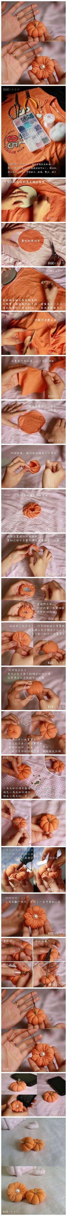 DIY Old T-Shirt Pumpkin Ornament DIY Projects