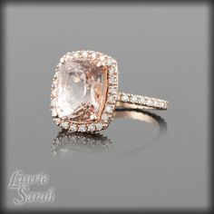 Dream engagement ring, rose gold with morganite