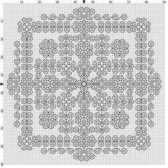 Wyrdbyrd. Intricate blackwork chart.