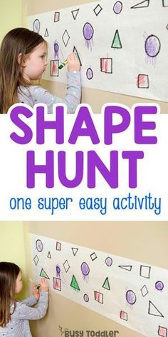 Find the Shapes Math Activity #busytoddler #toddleractivity #toddleractivities #easytoddleractivity #mathactivity #shapesactivity