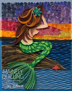 Quilled Mermaid | The Siren 2.0 | Mainely Quilling