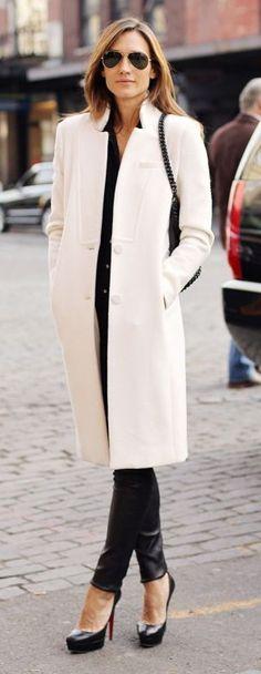White coat, Black everything