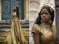 """honestly-i-hate-you-all: """" """" Sun Goddess for real… Model: Theresa Fractale Photographer: Lillian Liu Dress: Linda Frisen Couture """" 😍😍😍😍 Not even kidding this is what a goddess looks. Pretty People, Beautiful People, Character Inspiration, Style Inspiration, Style Africain, Mode Costume, My Sun And Stars, Fantasy Photography, Black Women"""