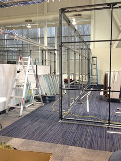 Here's a few shots of our awesome crew in action, installing #Teknion Altos Glass Wall Systems in a new space that is now ready for new meetings, installed in just a weekend!