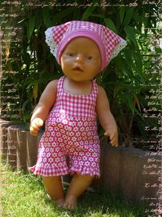 Baby Born Sewing Pattern Emily (for dolls) by Mamu Design as e-book in category Miscellaneous Baby Alive Doll Clothes, Baby Born Clothes, Bitty Baby Clothes, Baby Alive Dolls, Baby Dolls, Sewing Machine Projects, Sewing Projects For Beginners, Sewing Patterns Free, Free Sewing