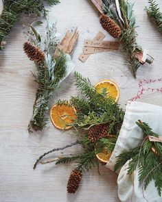 Christmas is in the air! Or at least, it is at home. Bring all of the sweet, spiced aromas of the season — cinnamon, cloves, evergreen, and peppermint — inside using DIY ideas like stovetop potpourri, bundled fire starters, and fragrant wreaths.     Fragrant Fire Starters  Burn these muslin bags, which are filled with dried orange slices, sage, lavender, and eucalyptus, in your fireplace to fill your home with holiday spirit.