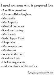 mine deals with about 99% of these :)     #lovehim <3 | tatts and Quotes | Pinterest | Future Boyfriend, Boyfriends and Dancing In The Rain