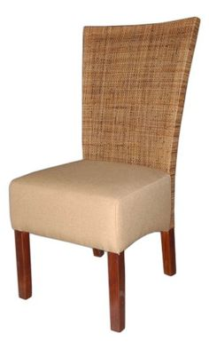 "Crafted Home Lansing Traditional Wooden Chair, 21"" Length by 23"" Width by 41"" Height, Tan"