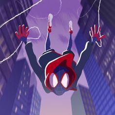 Spider-Man Miles Morales by Nicolas Rix Ultimate Spider Man, All Spiderman, Amazing Spiderman, Marvel Dc, Marvel Heroes, Miles Morales Spiderman, Black Spider, Spider Gwen, Spider Verse