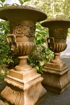 Regency Urn On Pedestal By Orlandi Ornate Design Is The Highlight Of The  Classic Urn By Orlandi. Dimensions: 24.0W 24.0D 47.0H Material: Fiber Stu2026  ...