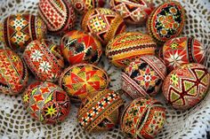 Easter Eggs in Poland. Gorgeous!
