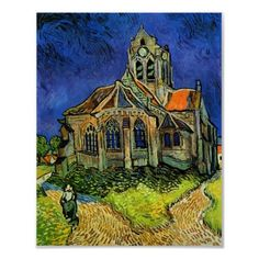 Van Gogh Church at Auvers by masterpiecesofart
