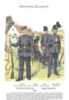 Band XII #27.- Hessen-Kassel. Schützen-Bataillon. Jäger-Bataillon. 1866.