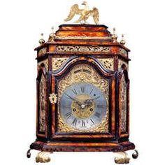 Italian Early 18th c. Baroque Tortoiseshell Table Clock